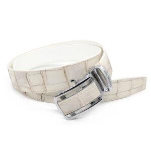 ceinture crocodile blanc 1