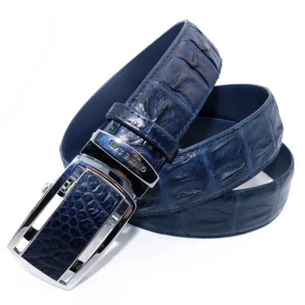 ceinture crocodile cobalt 1833 a 1