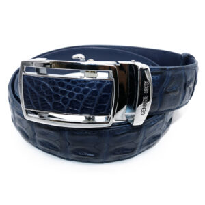 ceinture crocodile cobalt 1833 b 1