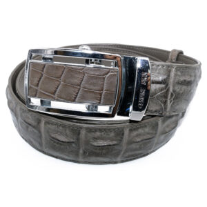 ceinture crocodile gris graphite b 1