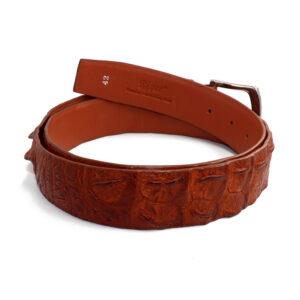 ceinture crocodile marron a 1