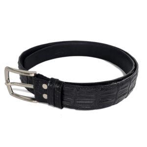 ceinture crocodile noir