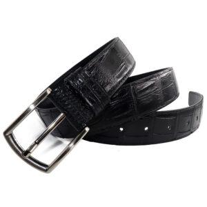 ceinture crocodile noir a