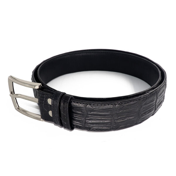 ceinture crocodile noir d 1