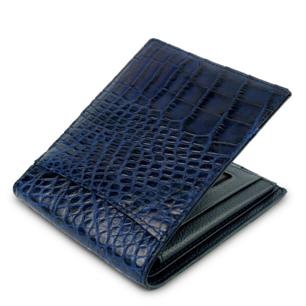 portefeuille crocodile cobalt xl2 1