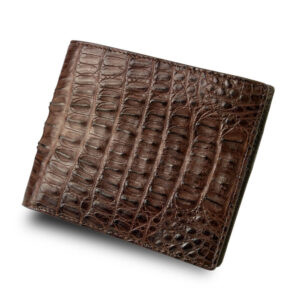 portefeuille crocodile marron abc xl1 1
