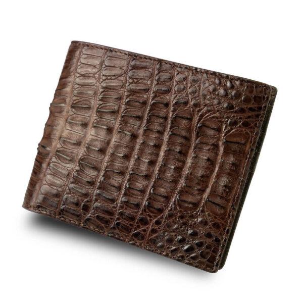 portefeuille crocodile marron abc xl1 1