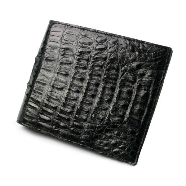 portefeuille crocodile noir abc xl1 1