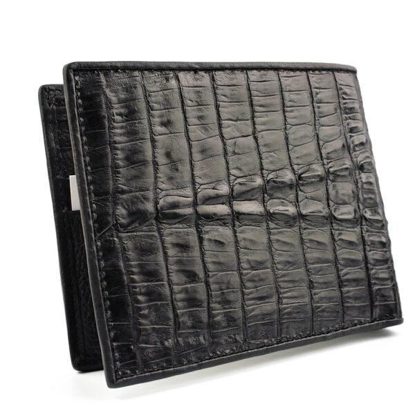 portefeuille crocodile noir abc xl2