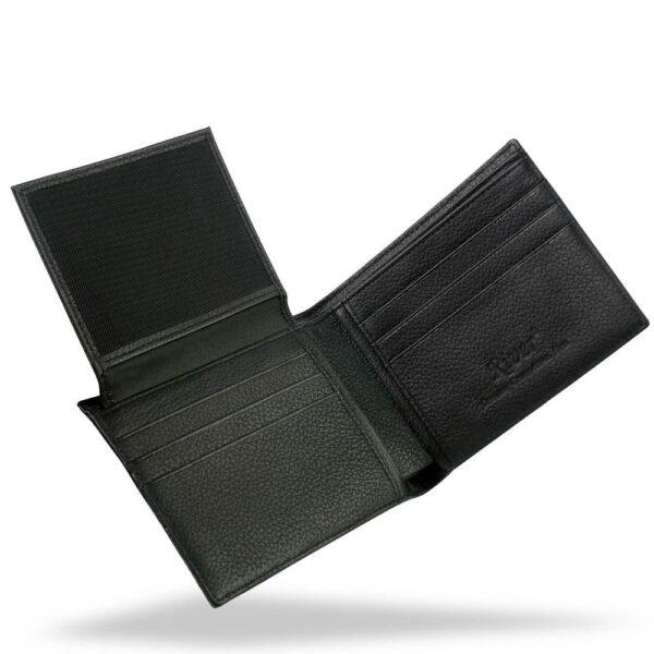 portefeuille crocodile noir abc xl4