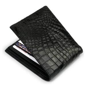 portefeuille crocodile noir xl1 1