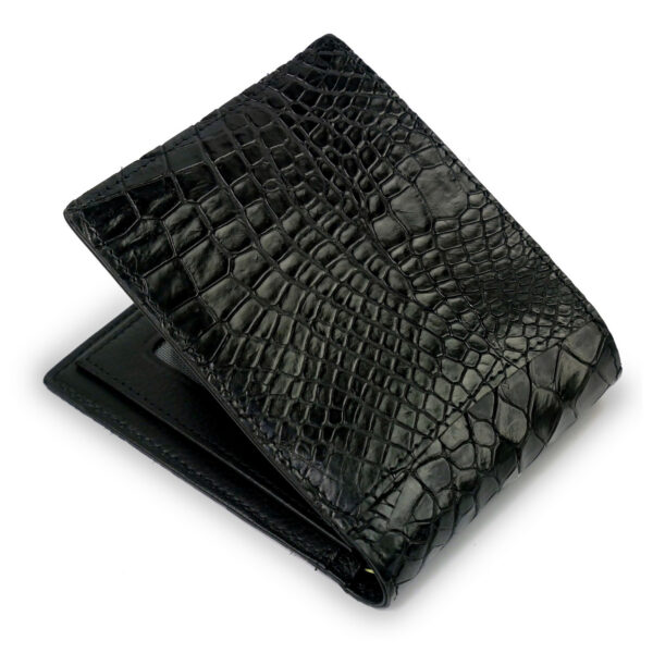 portefeuille crocodile noir xl2 1