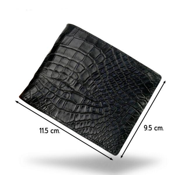 portefeuille crocodile noir xl5 1