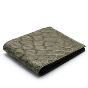 portefeuille crocodile veritable couleur acier mdg 1