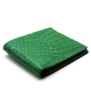 portefeuille crocodile veritable emeraude mdg 1