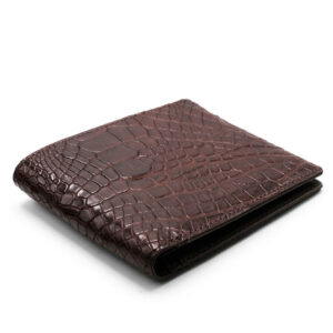 portefeuille crocodile veritable marron mdg 1