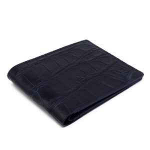 portefeuille crocodile veritable navy mdg serie limitee