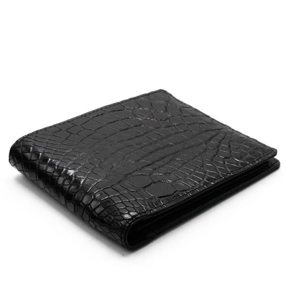 portefeuille crocodile veritable noir mdg 1