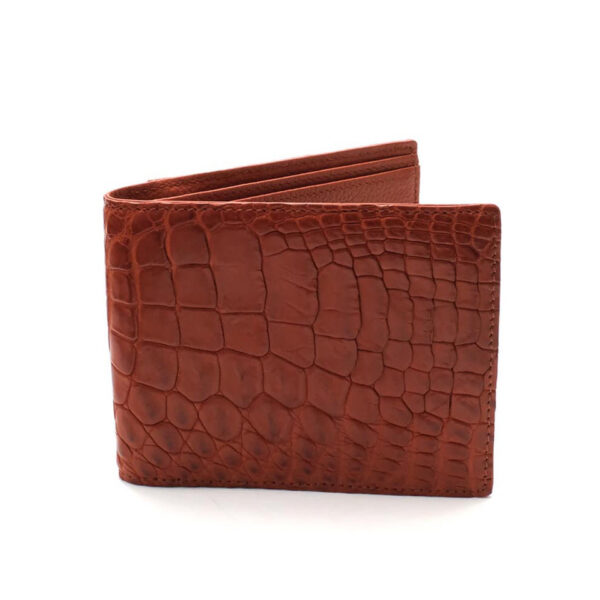 portefeuille crocodile veritable ocre dore mdg 2