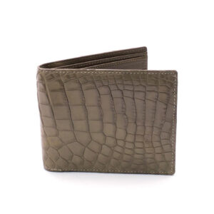 portefeuille crocodile veritable taupe clair mdg 2