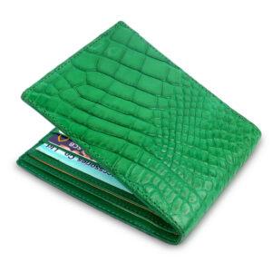 portefeuille crocodile vert xl1 1