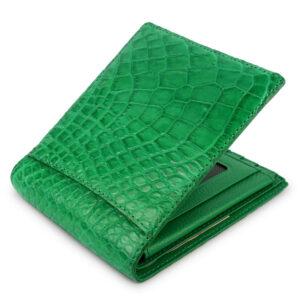 portefeuille crocodile vert xl2 1
