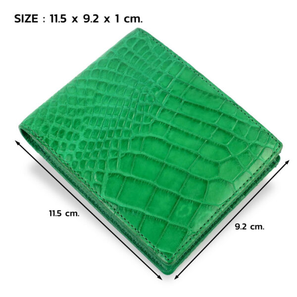 portefeuille crocodile vert xl5 1