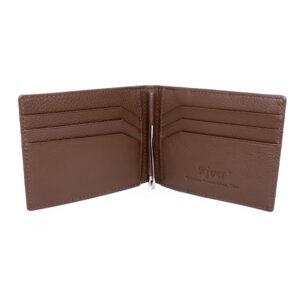 portefeuille money clip crocodile couleur marron 3 1