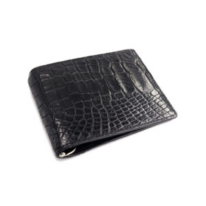 portefeuille money clip crocodile couleur noir 1