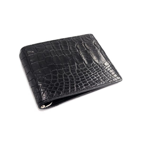 portefeuille money clip crocodile couleur noir 1