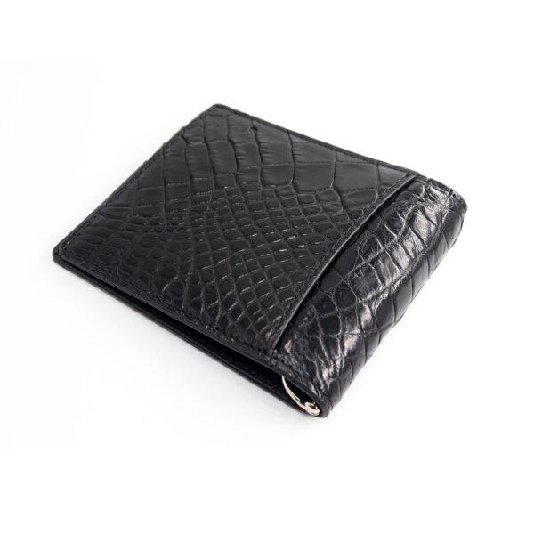 portefeuille money clip crocodile couleur noir 2