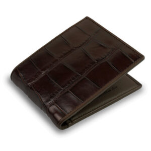 premium portefeuille crocodile marron 1 1