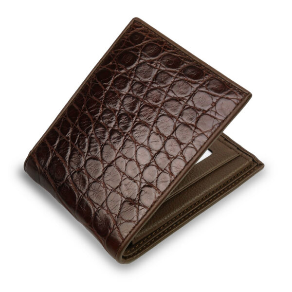 premium portefeuille crocodile marron 2 1