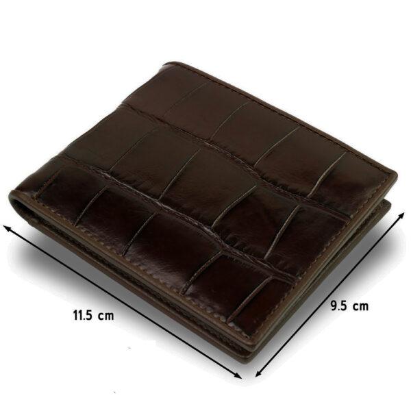 premium portefeuille crocodile marron 3 1