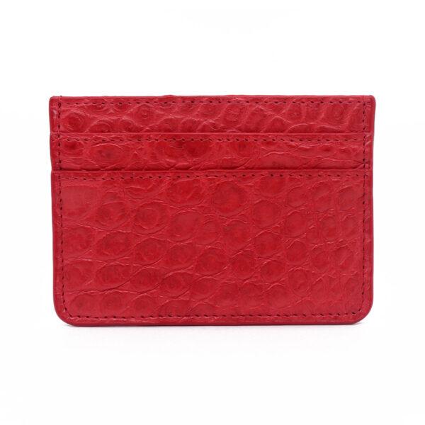 porte cartes crocodile rouge